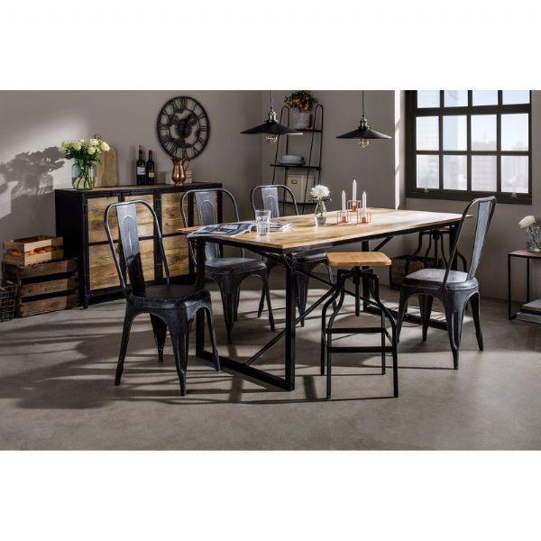 Cosmopolitan X-Bar Dining Table | Large dining table with X-bar supports.
